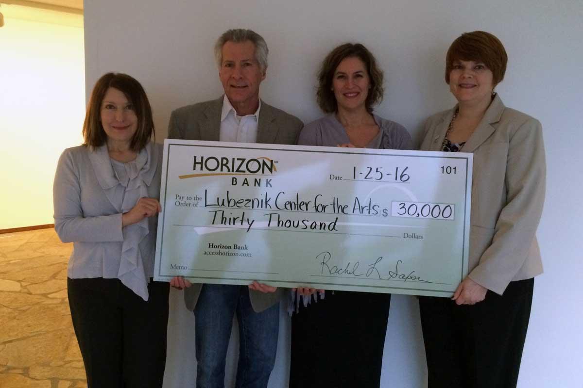 Horizon Bank Awards $30,000 Grant to Lubeznik Center for the Arts