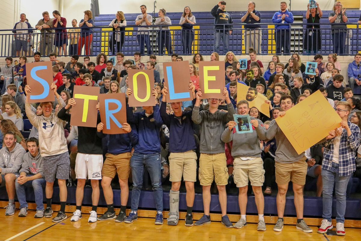 New Prairie High School Holds Pep Rally To Honor Nicest Teacher