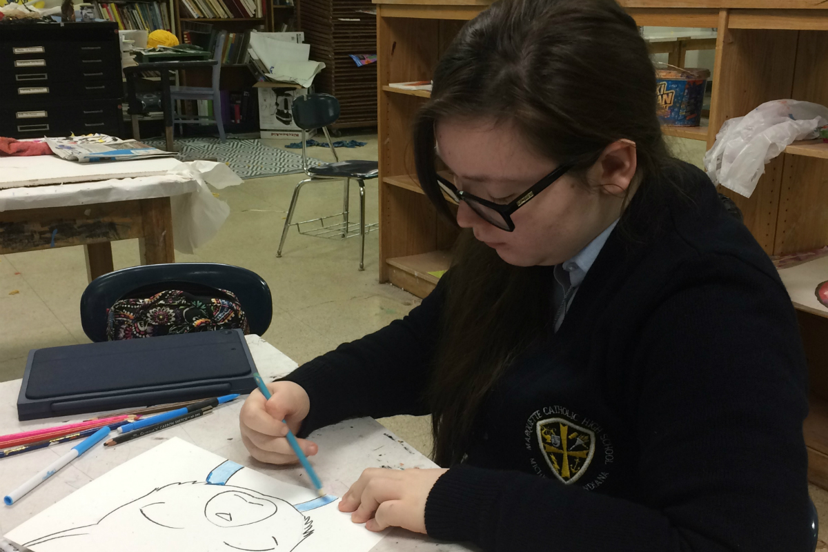 #1StudentNWI: Arts and Theater at Marquette Catholic