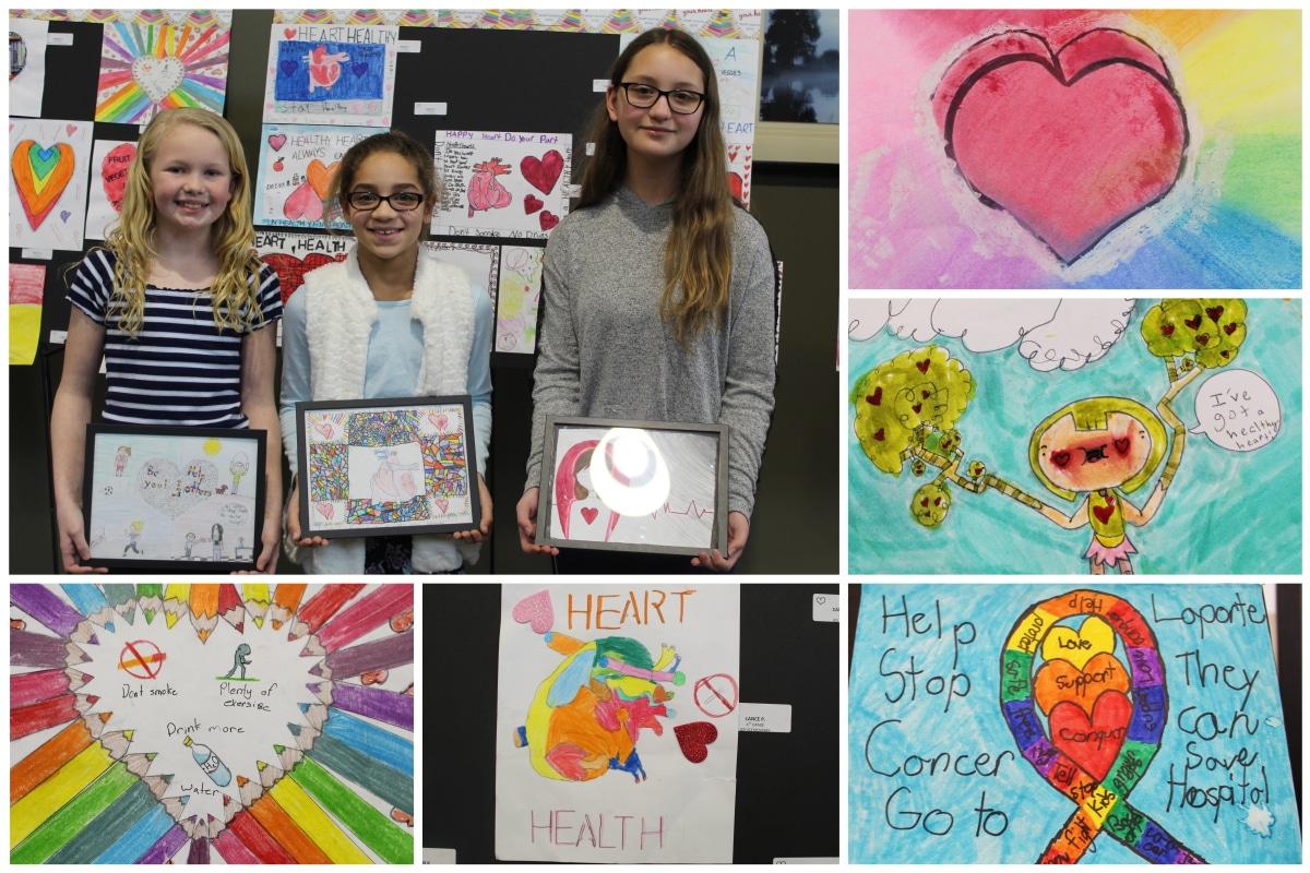 Elementary school students shine in Show Us Your Heart art exhibit