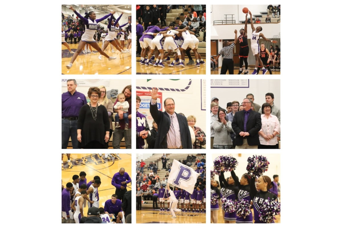 Boys Basketball Merrillville vs La Porte 2019, Inducts Coaches into Pirates Hall of Fame