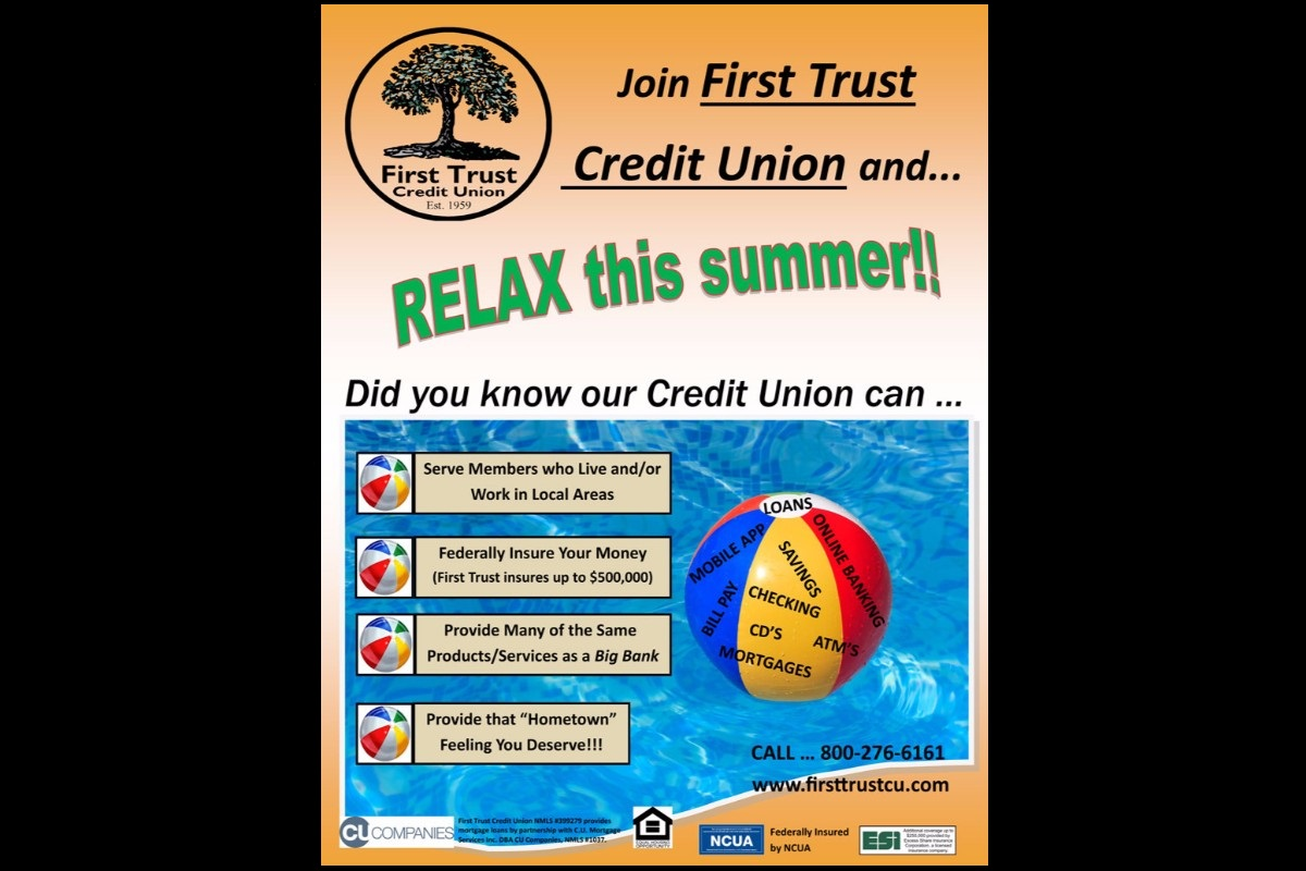 Let Yourself Relax This Summer with First Trust Credit Union