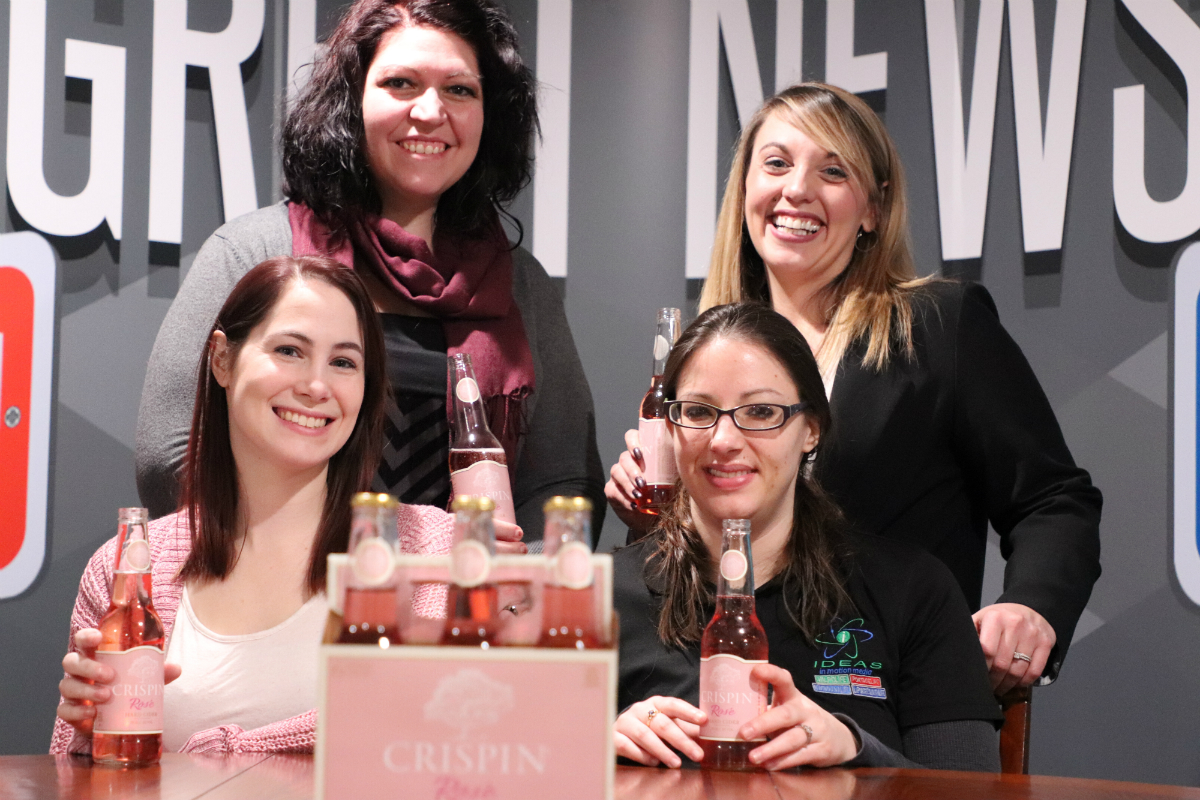 Lady Lifers Give Crispin Rosé a Try Just in Time for a Girls Day In