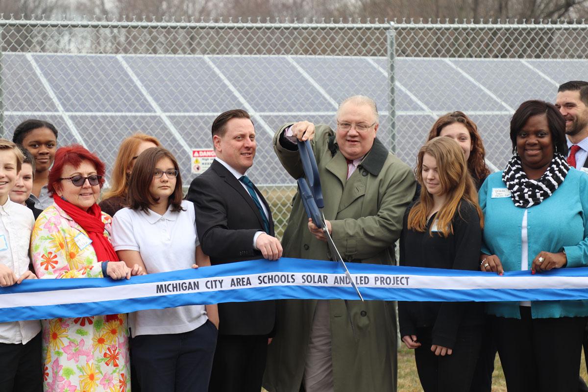 Michigan City Area Schools Celebrate Completion of Solar Project