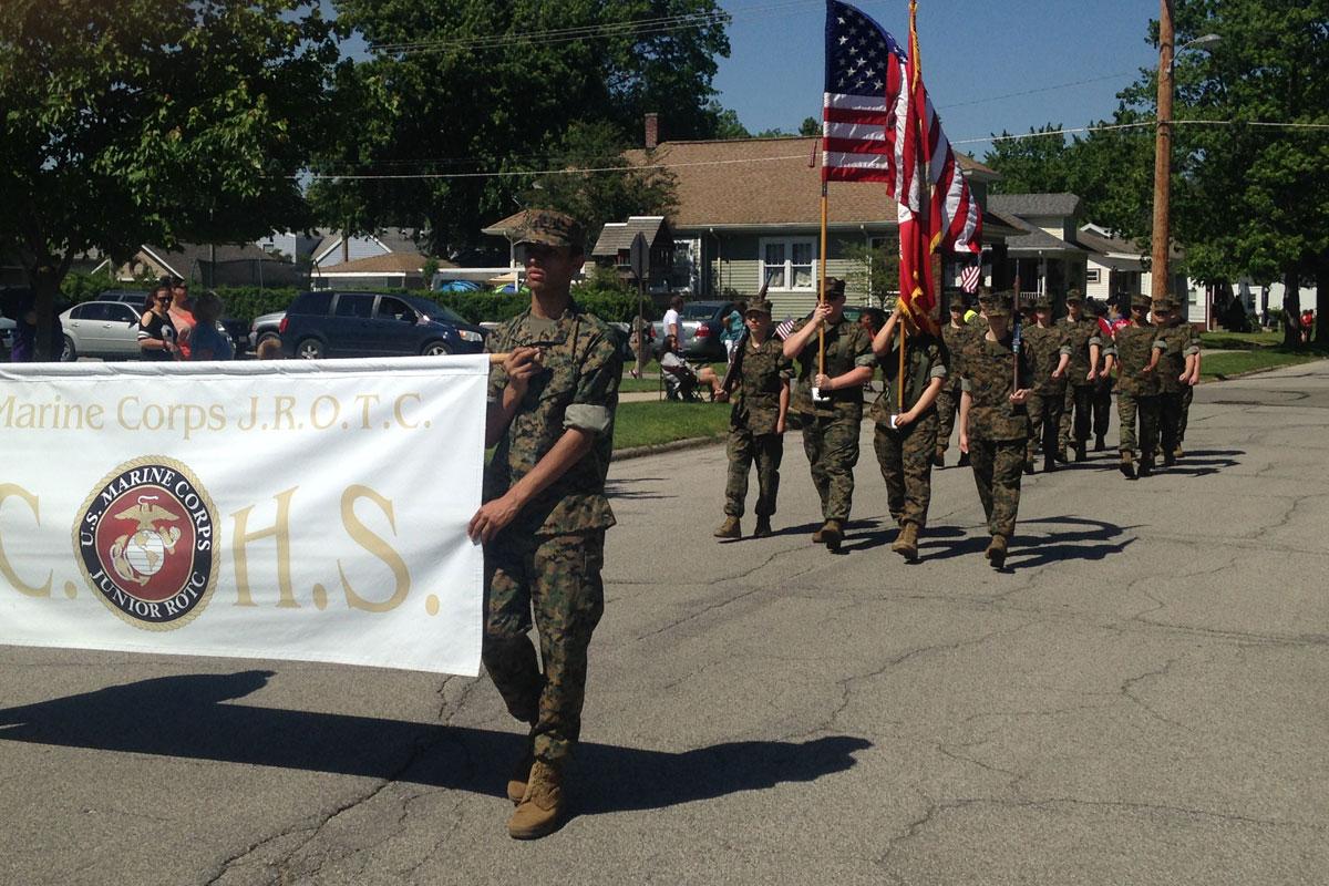 Michigan City High School MCJROTC Honors Fallen Heroes in 2017