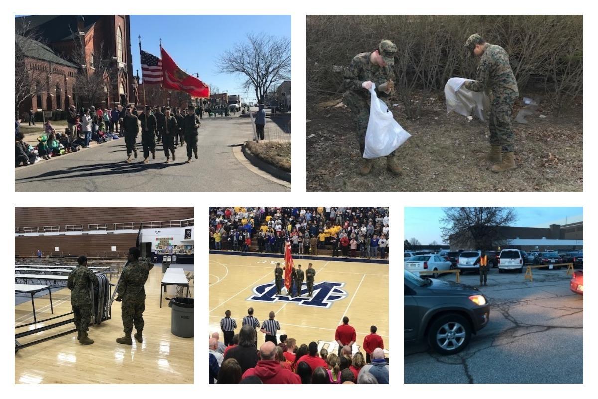 Michigan City High School MCJROTC Supports School, Community in 2018