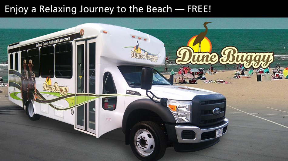 South Shore Line's Dune Buggy Beach Shuttle Offers a Free Ride to Area Beaches