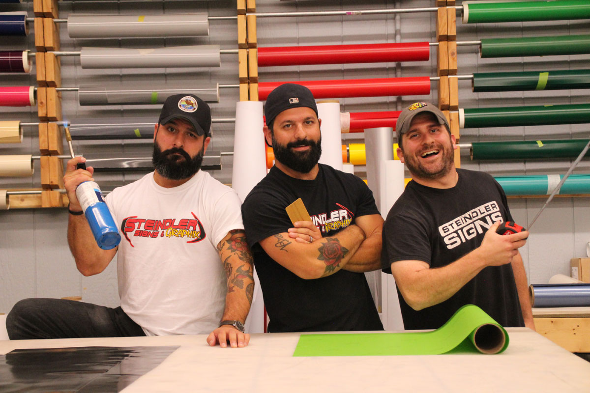 The Three Wszolek Brothers Bring Art, Music and Laughter to Steindler Signs